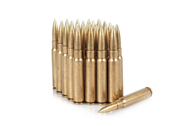 K98 Deko Munition 8x57 IS Infanterie Spitz 25 Stück Dekopatronen