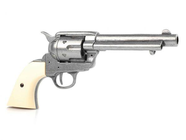 Deko Colt SAA 1873 Artillery Model mit Finger Groove Grips - used Look