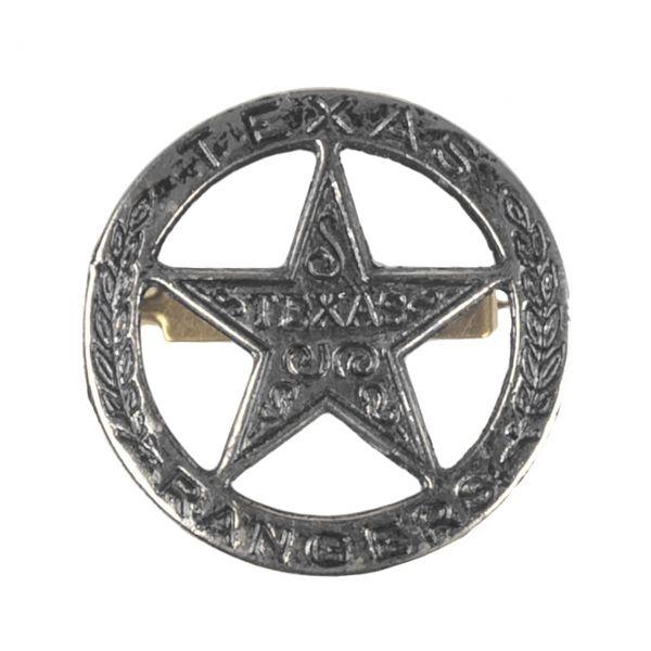 Texas Rangers Abzeichen aus Metall mit Sicherheitsverschluss