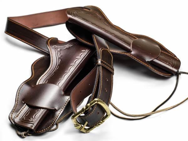 Cowboy Gürtel mit Holster - Doppel Westernholster