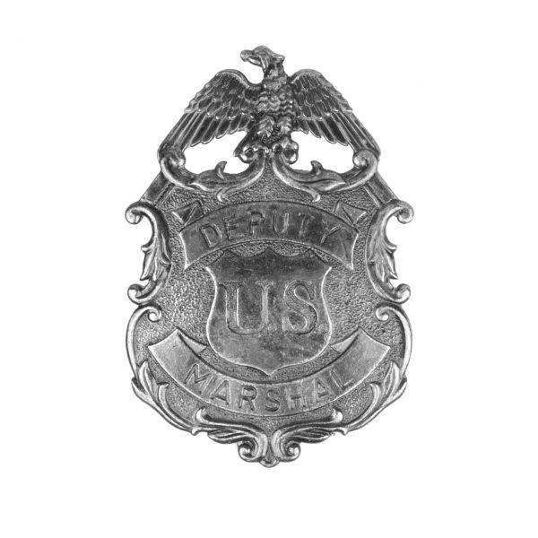 US Deputy Marshal Abzeichen silberfarben mit Sicherheitsverschluss