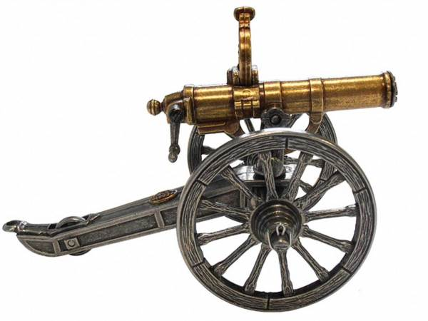 Gatling Gun Deko Kanone - Detailansicht der Modellkanone