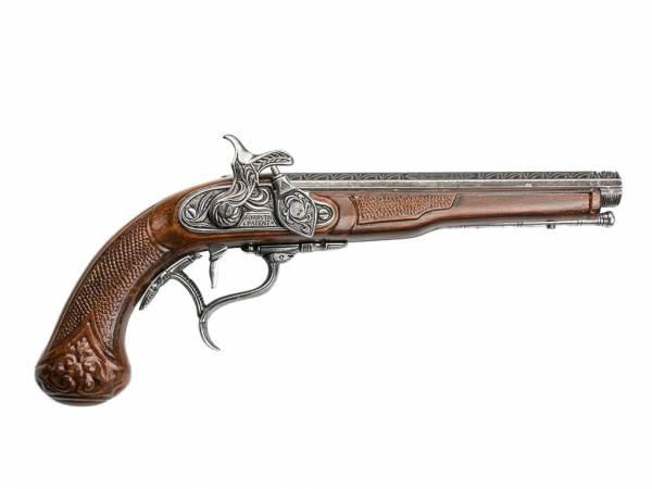 Hadley 1807 Achtkantlauf Perkussionspistole Deko - braun-silberfarben
