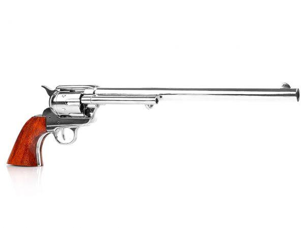 Deko Colt Buntline Special - Peacemaker Revolver SAA 1873 - vernickelt