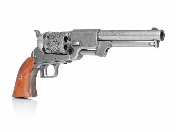 Colt Dragoon 1848 Army Deko Revolver im used Look mit Holzgriff