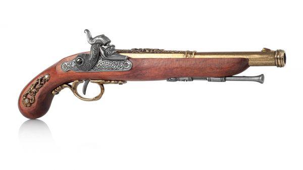 Perkussionspistole Deko Pistole Frankreich 1832 messingfarben