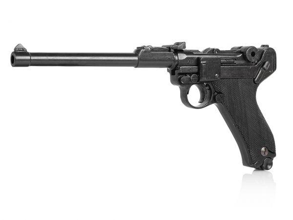 Luger P08 Ari 08 Deko Pistole in schwarz