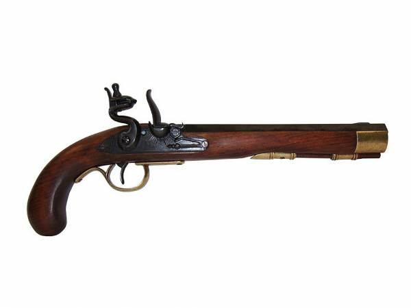 Kentucky Pistole - Deko Steinschlosspistole - schwarz/messingfarben