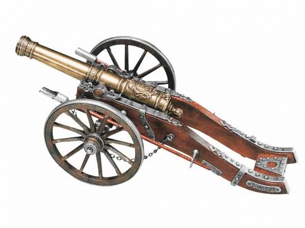 24 Pfünder Ludwig XIV Deko Kanone - Detailansicht der Modellkanone