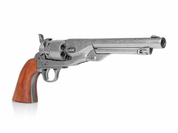 Colt Army 1860 Deko Revolver im used Look mit Holzgriff