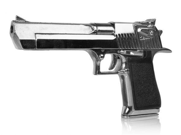 Desert Eagle Deko Waffe in chrom