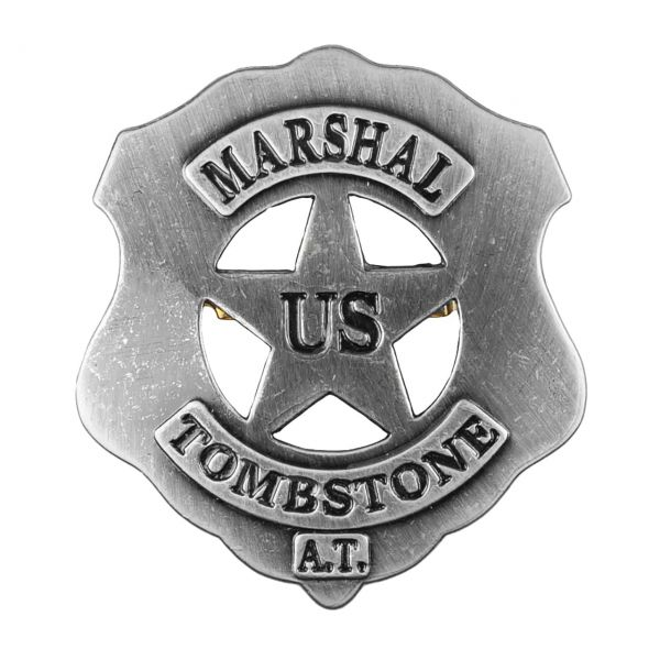 US Marshal Tombstone Abzeichen mit Sicherheitsverschluss