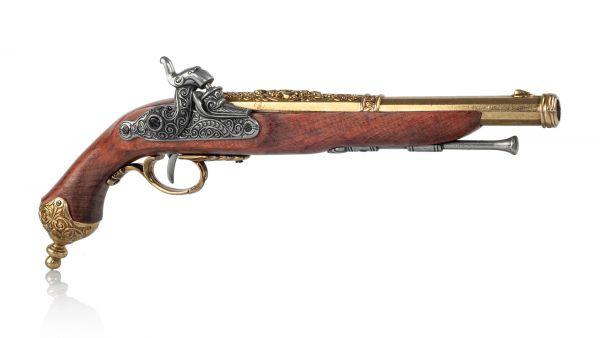 Perkussionspistole Deko Pistole Italien 1825 messingfarben