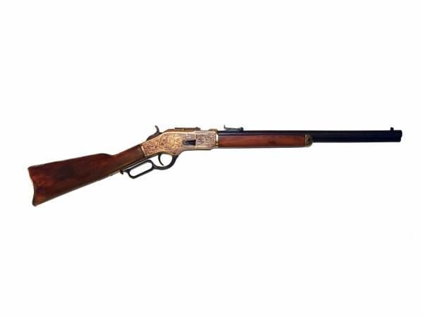 Winchester 73 Deko Gewehr - Model 1873 - graviert - schwarz/messingfarben
