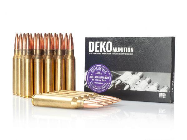 25 Stück Deko Patronen .338 Lapua Magnum Munition 8,6 x 70 mm