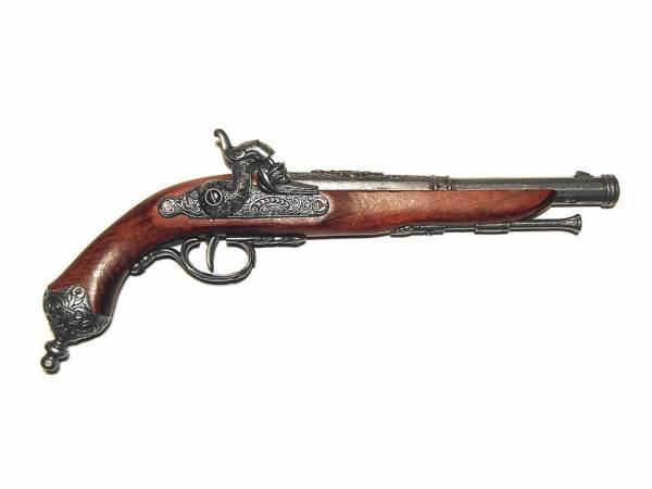 Italienische Perkussionspistole Deko Pistole Italien 1825 silberfarben