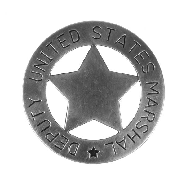 Deputy United States Marshal Abzeichen silberfarben mit Sicherheitsverschluss