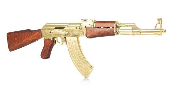 Kalaschnikow AK 47 Gold Edition Dekowaffe