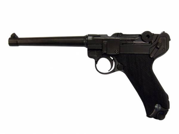Luger P08 Marine Deko Pistole Marine 08 mit Griffschalen aus Bakelit-Imitat