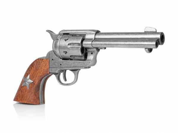 Colt SAA 1873 Texas Ranger Deko Revolver im used Look mit Lone Star