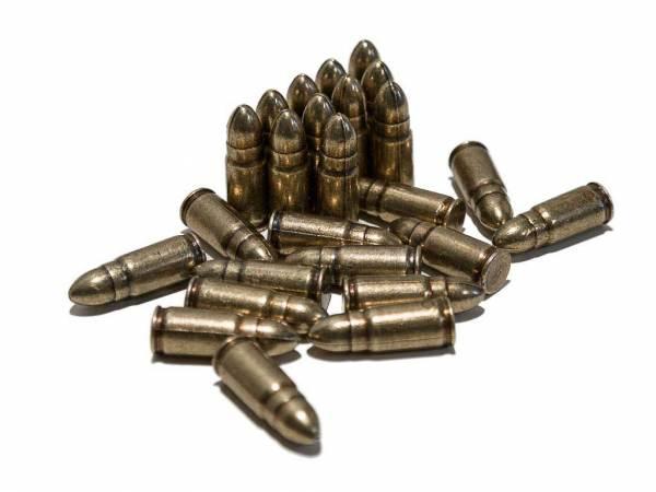 25 Parabellum Dekopatronen als 7,65 mm Luger Deko Munition