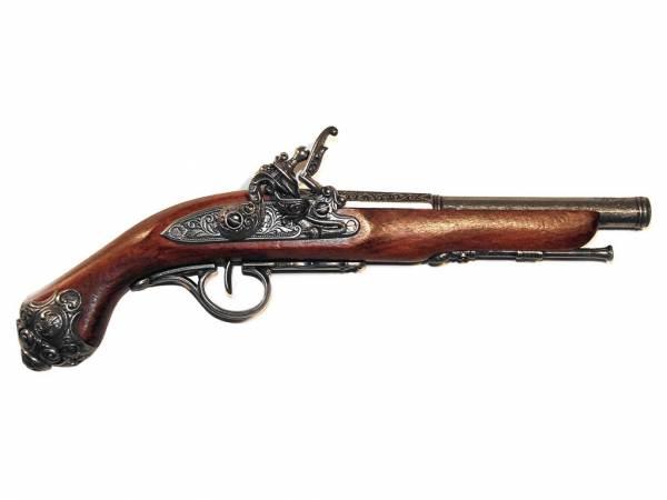 Steinschlosspistole Deko Pistole - Preußen 1750 - silberfarben