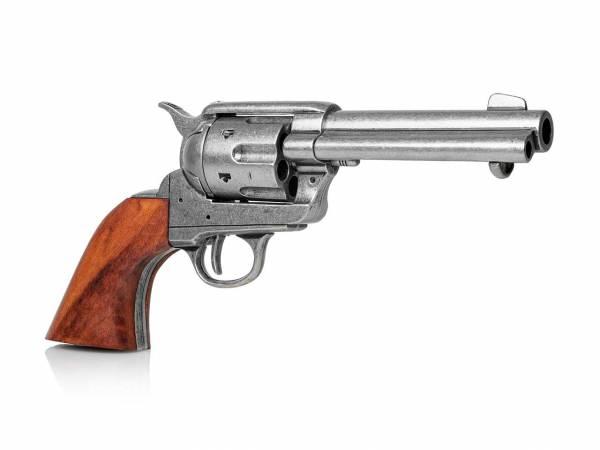 Colt SAA 1873 Gunfighter Deko Revolver im used Look mit Holzgriff