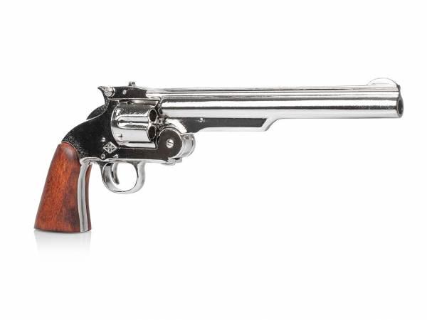 Smith & Wesson Shofield No 3 Deko Revolver vernickelt mit Holzgriff