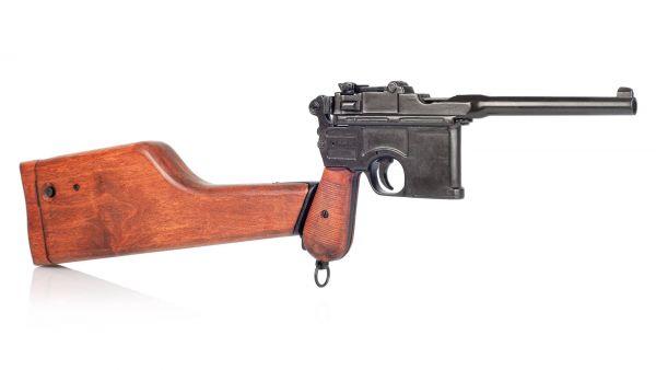 Deko Mauser C96 mit Anschlagschaft