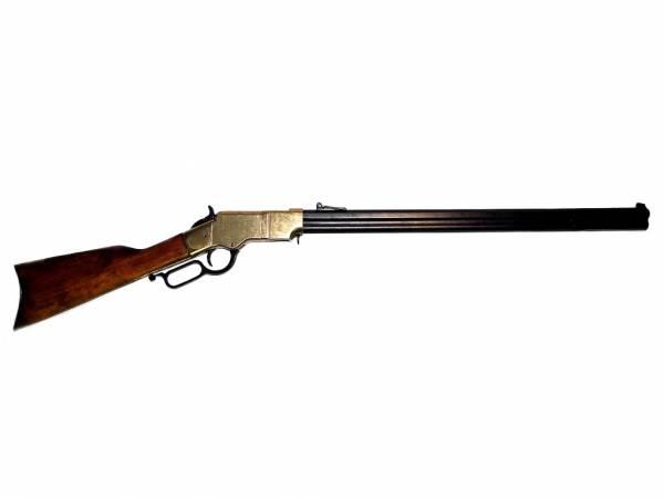 Henrystutzen Deko Gewehr - Henry Rifle - schwarz / messingfarben