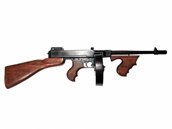 M1928 Thompson Deko - Maschinenpistole mit Trommelmagazin