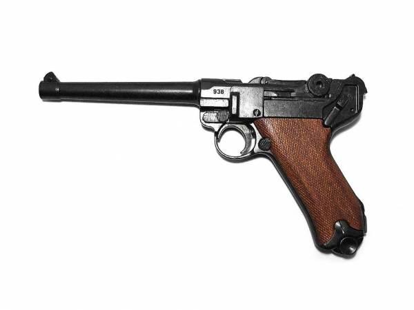 Luger P08 Marine Deko Pistole Marine 08 mit Holzgriffschalen