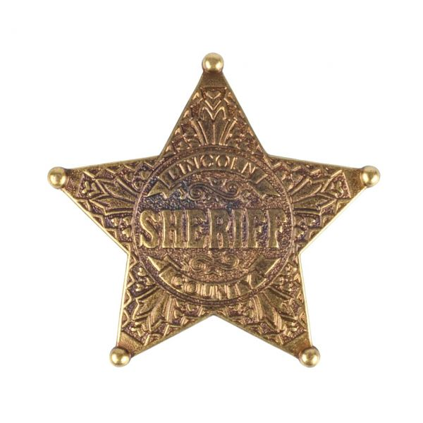 Sheriffstern Lincoln County aus Metall