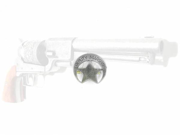 US Deputy Marshal Abzeichen - silberfarben mit Sicherheitsverschluss