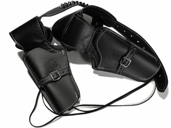 Cowboy Revolvergürtel - Doppel Westernholster