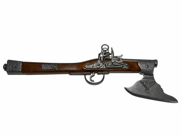 Deutsche Axtpistole - Deko Pistole - Preußen 1795 - silberfarben