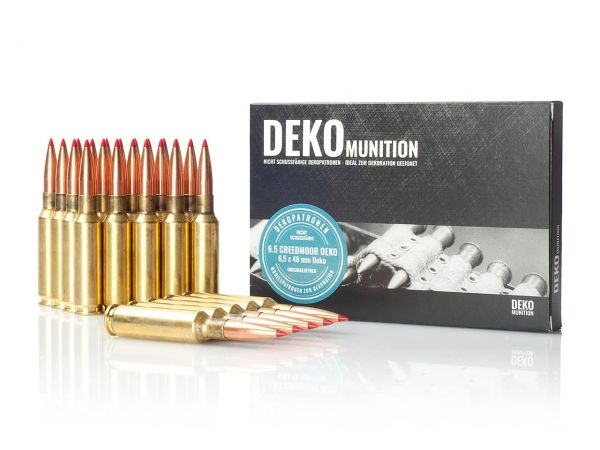 25 Stück Deko Patronen 6,5 mm Creedmoor Munition