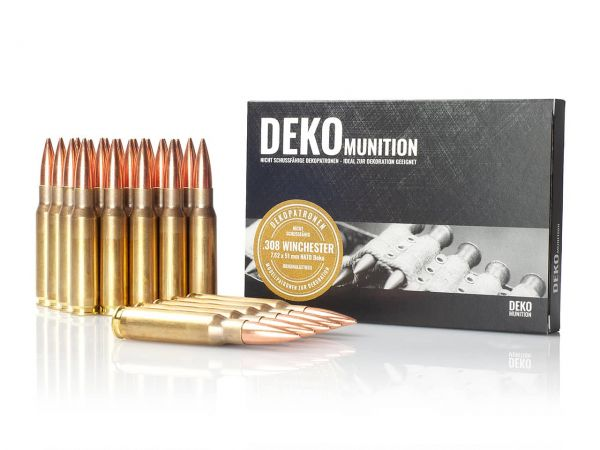 25 Stück Deko Patronen NATO Munition 7,62 x 51 mm .308 Winchester