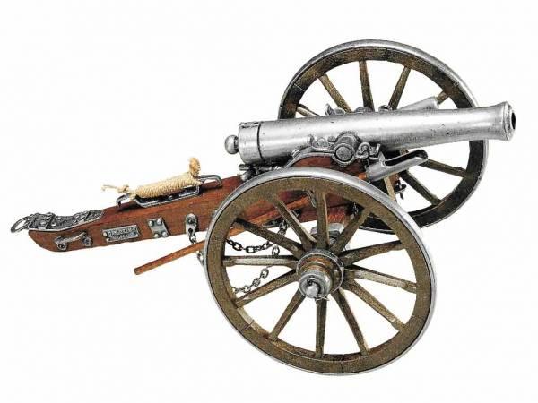 M1857 12 Pfünder Napoleon Deko Kanone - Detailansicht der Modellkanone