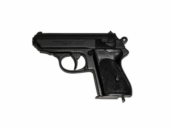 Walther PPK Deko Pistole - Polizeipistole Kriminal in schwarz