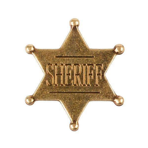 Sheriffstern Abzeichen mit Sicherheitsverschluss