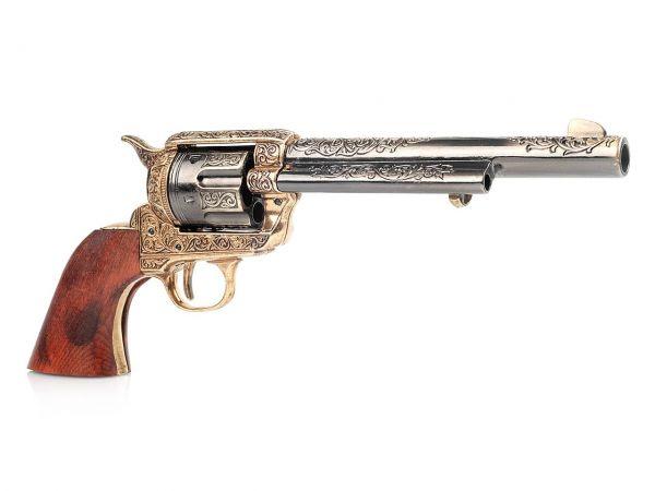 45 Colt Peacemaker Deko Revolver mit Cuno Helfricht Gravur - 7 Zoll