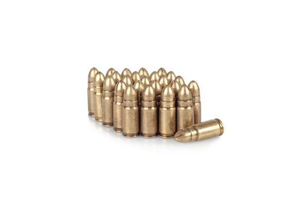 7,65 mm Luger Deko Munition Parabellum 25 Stück Dekopatronen