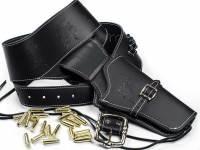 Cowboy Revolvergürtel - Westernholster mit Dekopatronen