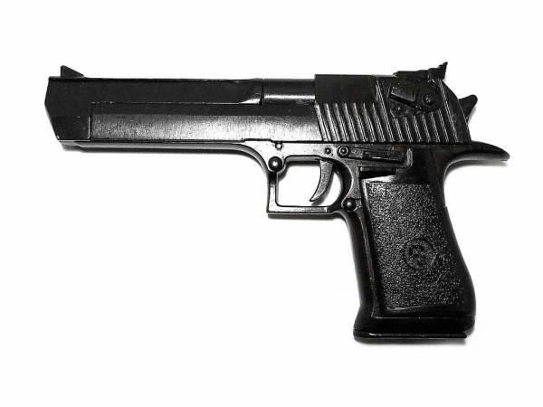 Desert Eagle Deko Waffe - schwarz