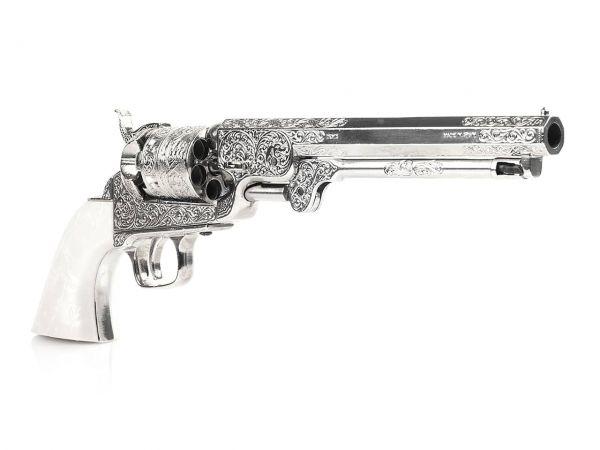 Colt Navy 1851 Deko Revolver mit Perlmuttgriff - silberfarben