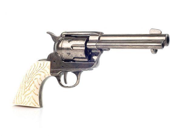 Deko Colt SAA 1873 Gunfighter - brüniert mit Elfenbeingriff