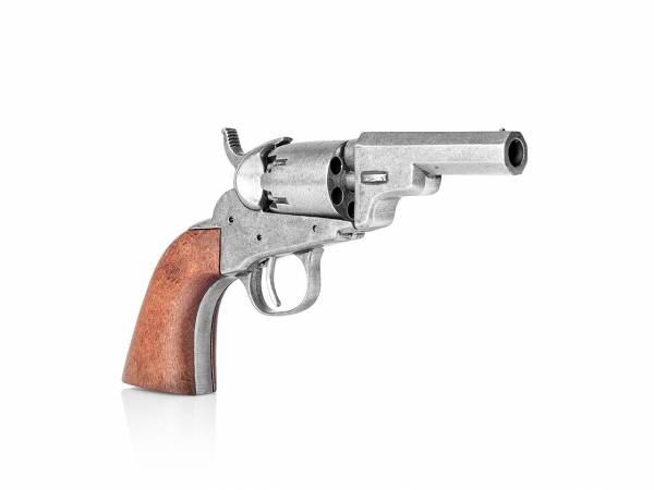 Colt Pocket 1849 Wells Fargo Deko Revolver im used Look mit Holzgriff