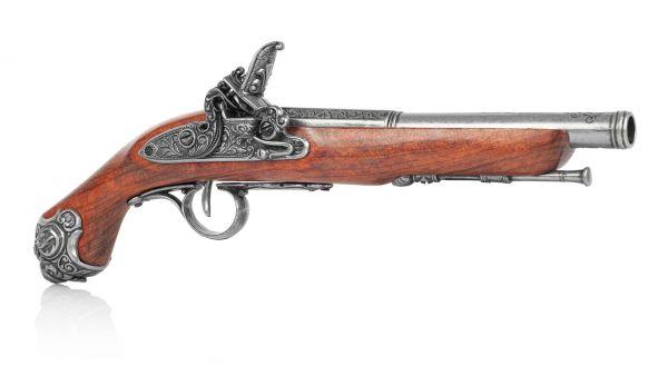 Deutsche Steinschlosspistole als Deko Pistole - Preußen 1750