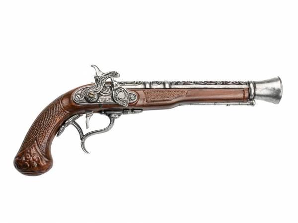 Englische Hadley 1807 Tromblon-Pistole Deko - Espingole - braun-silberfarben
